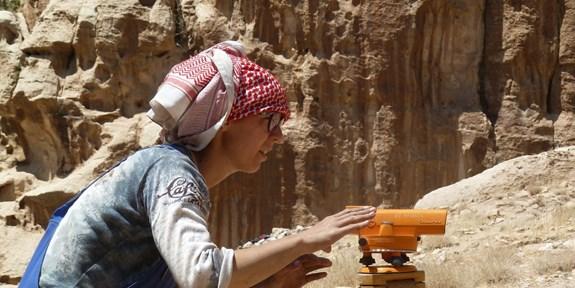 Studentka PANE Barbora Kubíková, Ba´ja, Jordánsko 2016, autor: Marion Benz (Universität Freiburg)