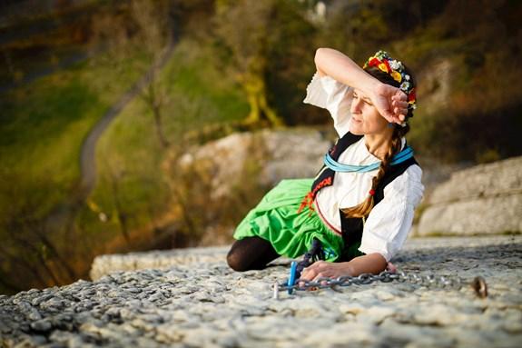 Petra Pospěchová má kromě vaření ráda i tradice a lezení po skalách. Foto: archiv Havlín