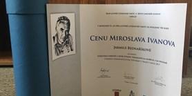 Cena Miroslava Ivanova pro paní docentku Jarmilu Bednaříkovou