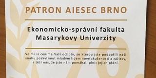 Fakulta získala ocenění AIESEC Brno