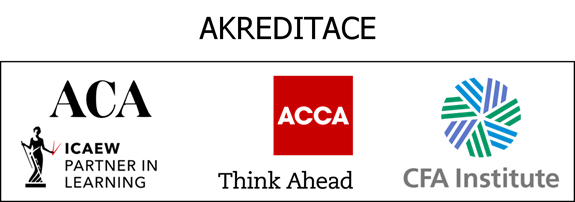 Akreditace ACA, ACCA a CFA Katedry financí