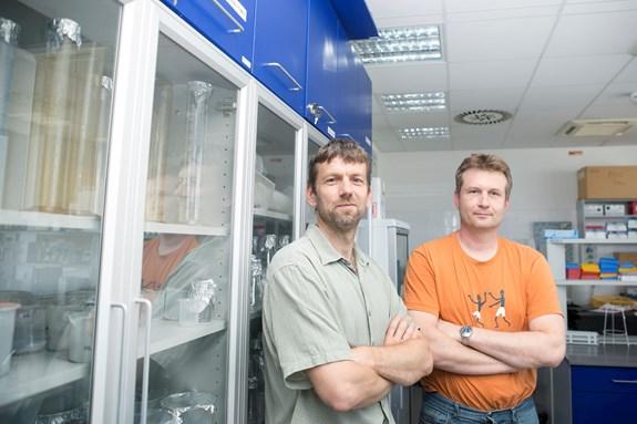 Na výzkumu pracují docenti Lumír Krejčí (vlevo) a Kamil Paruch