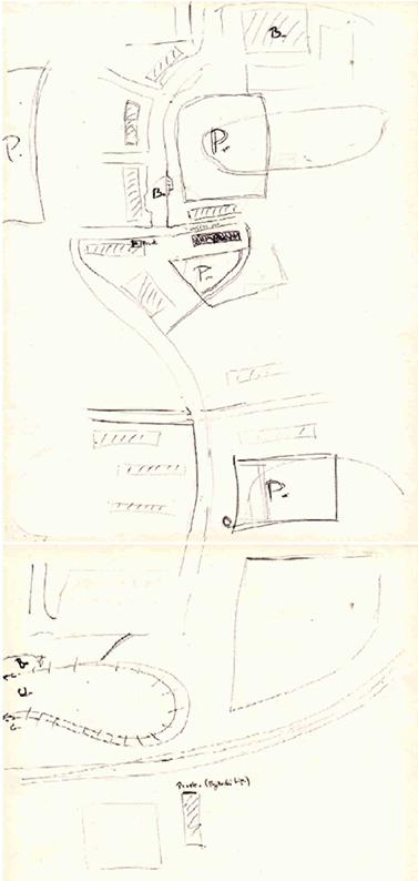 Podle hustoty bodů a jejich zvýraznění lze rozeznat, která místa jsou pro autora mapy významná. Foto: archiv Andreji Křivánkové