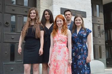 Zakládající členové neziskové organizace Právo21 (zleva) Martina Ivanová, Kamila Abbasi, Svatava Veverková, Josef Bártů, Sabina Baronová. Foto: Markéta Humplíková