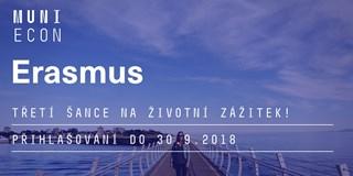 3. kolo výběrového řízení na Erasmus