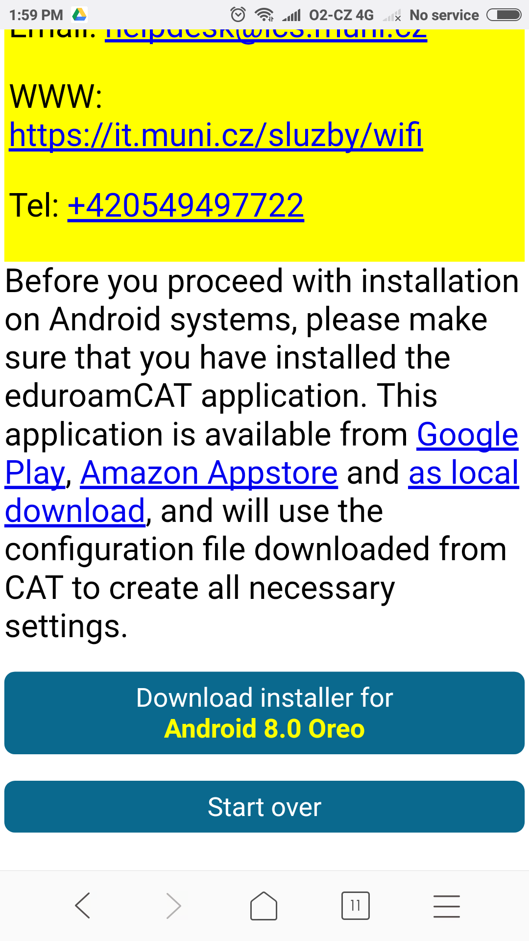 Eduroam for Android 4 3+ | IT services at Masaryk Univesity