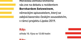 Čtení Bernharda Setzweina - 10. 10. 2018 ve 12.00 (K32)