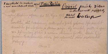 První, a přesto jedenáctý v pořadí. Několik zajímavostí k zákonu z 28. října 1918