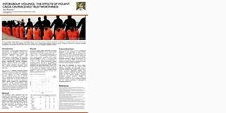 "Dan Řezníček: ""Intergroup violence: The Effect of Violent CREDs on Perceived Trustworthiness"""