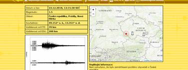 Seismologický informační displej