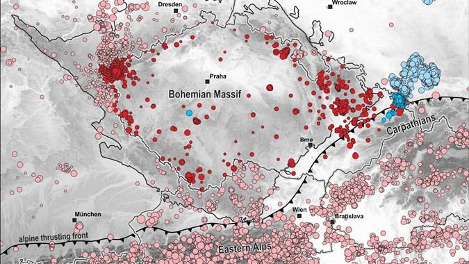 regionální seismicita ČR