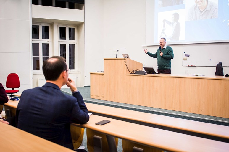 Tomáš Holý je vedoucí Národního centra průmyslu 4.0. Foto: Tomáš Hrivňák