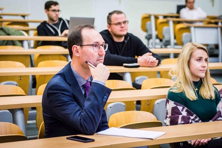 Přednášku navštívili studenti i akademici. Foto: Tomáš Hrivňák