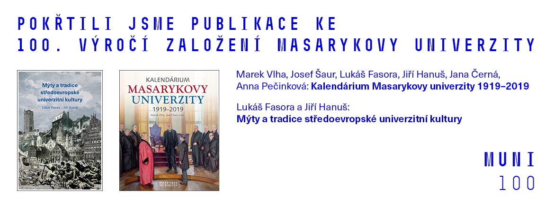 Křest publikací ke 100. výročí založení Masarykovy univerzity