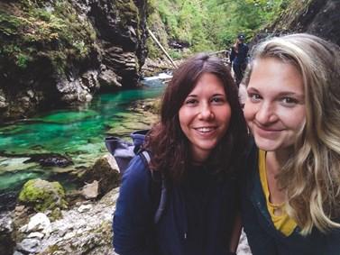 Saša Pospíšilová a Kateřina Burianová jsou kamarádky a vyrazily společně třeba do Slovinska. Foto: archiv Alexandry Pospíšilové