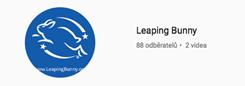 Znak Leaping Bunny - certifikát široce přijímaný jako spolehlivý garant netestování.