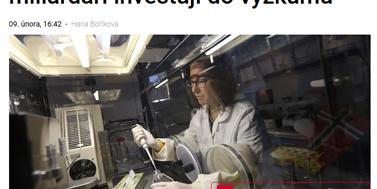 Z médií: Čeští miliardáři investují do výzkumu
