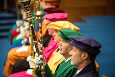 Ceremonie na Právnické fakultě se zúčastnili akademici z celé republiky. Foto: Tomáš Hrivňák