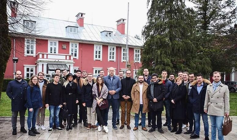 Přijetí u starosty města Cetinje. Foto Marko Popović