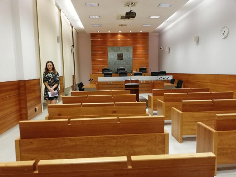Budovou Nejvyššího správního soudu provázeli asistenti soudce. Foto: Alena Ivanová