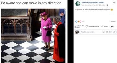 Každý pátek se fanoušci facebookového profilu politologie mohou těšit na vtip z oboru. Foto: Facebook katedry politologie