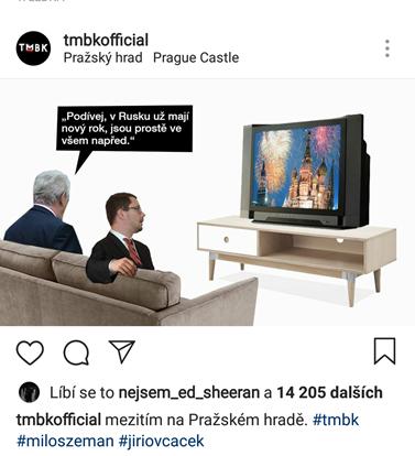 Nový rok na Pražském hradě. Foto: Instagram TMBK