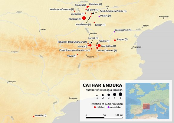 Map of Cathar endura