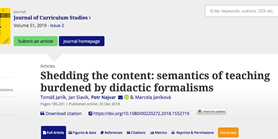 Vyšel nám článek vJournal of Curriculum Studies