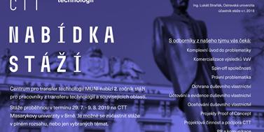 Nabídka stáží na CTT Masarykovy univerzity