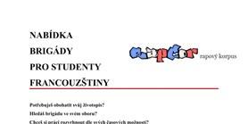 Nabídka brigády pro studenty francouzštiny