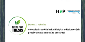 Czech Envi Thesis – celostátní soutěž bakalářských a diplomových prací v oblasti životního prostředí