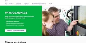 Nové webové stránky ústavů fyziky Masarykovy univerzity
