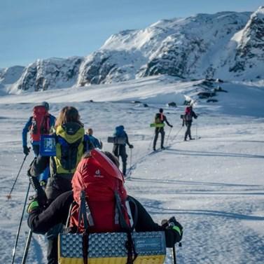 Jednodenní trek na lyžích poblíž Haukelisetter. Foto: archiv Davida Doležala