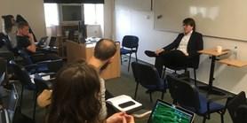 Odborník na brexit diskutoval se studenty