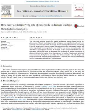 How many are talking? The role of collectivity in dialogic teaching