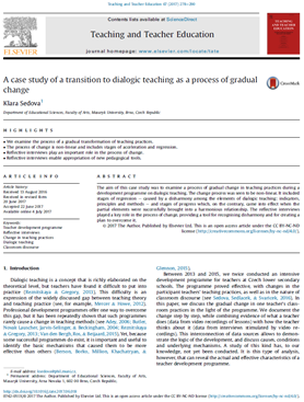 A case study of a transition to dialogic teaching as a process of gradual change