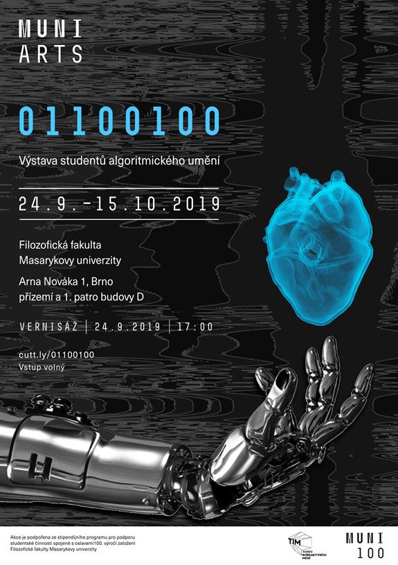 Výstava studentů algoritmického umění