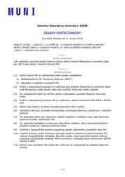 Zásady ediční činnosti Masarykovy univerzity