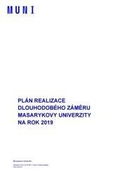 Institucionální plán Masarykovy univerzity na léta 2019–2020