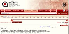 Geografický informační systém tradiční lidové kultury (1750–1900)
