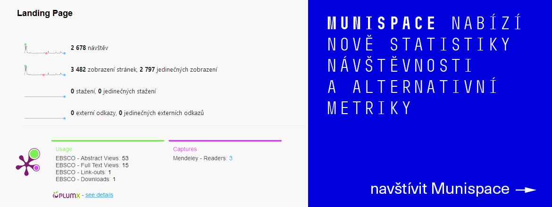 Statistiky a altmetriky pro Munispace