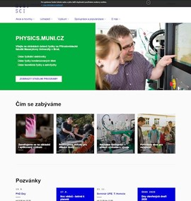 physics.muni.cz :: Web page of the Departments of Physics at Masaryk University in Brno.