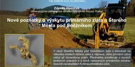 Nové poznatky o výskytu primárního zlata u Starého Města pod Sněžníkem