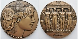 Pamětní medaile Univerzity Komenského v Bratislavě pro LF MU