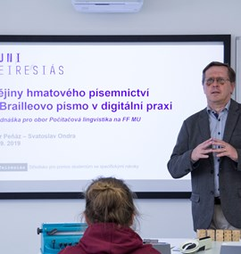 Přednáška PhDr. Petra Peňáze a Ing. Svatoslava Ondry