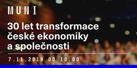 Konference 30 let transformace české ekonomiky a společnosti