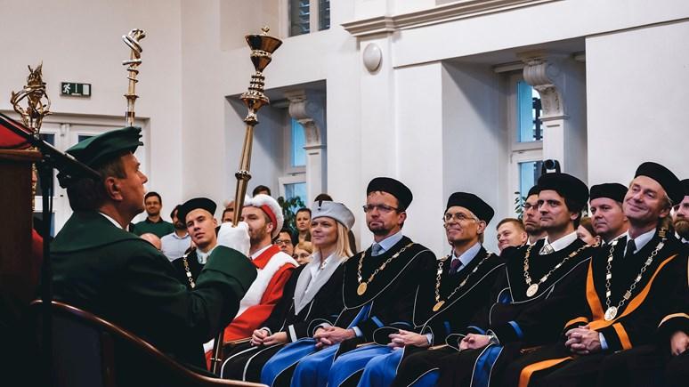 Úsměvy na tváři měli při inauguraci zaměstnanci, studenti i rodinní příslušníci. Foto: Miloslava Némová
