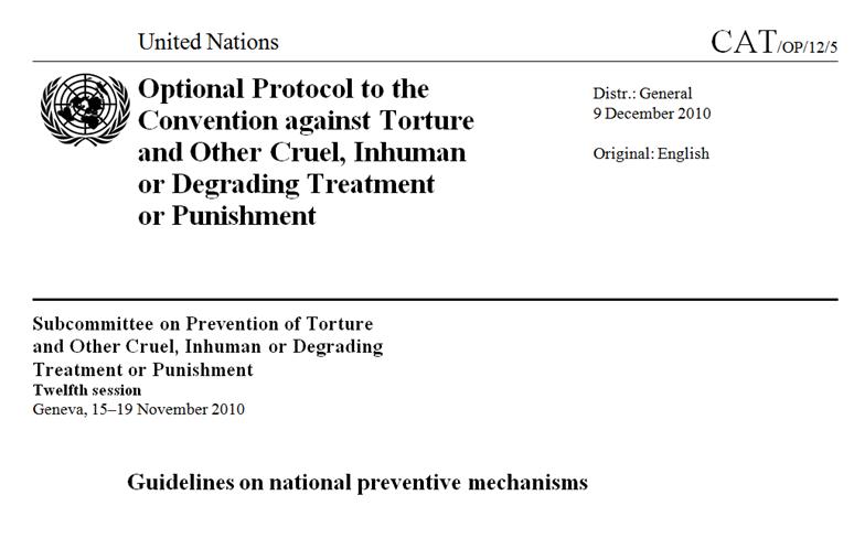 Standardy Podvýboru OSN proti mučení