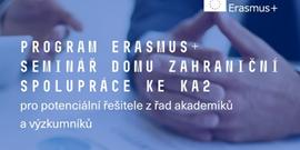 Seminář Erasmus+ poprvé na půdě LF MU již 19. 11.