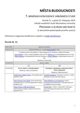 Program konference - interaktivní